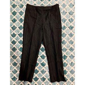 DANA BUCHMAN Black Textured Ankle Dress Pants